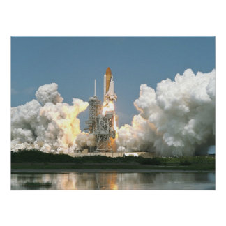 Launch of Space Shuttle Endeavour STS-100 Poster
