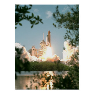 Launch of Space Shuttle Endeavour STS-100 Print