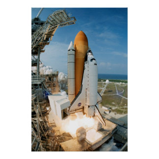 Launch of Space Shuttle Endeavour (STS-111) Poster