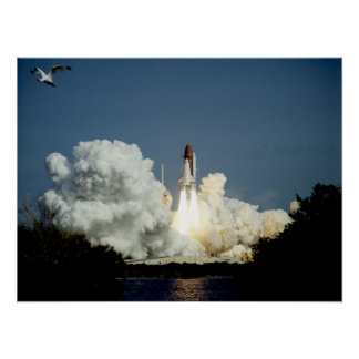 Launch of Space Shuttle Endeavour (STS-47) Poster