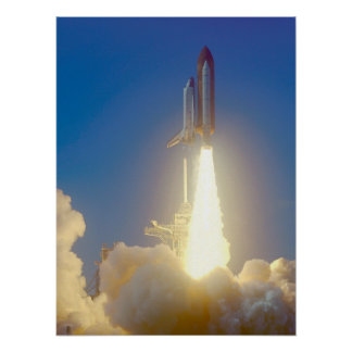 Launch of Space Shuttle Endeavour (STS-99) Poster