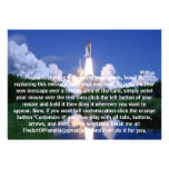 Launch of Space Shuttle Personalized Announcement