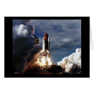 Launch of Space Shuttle STS-80 Card