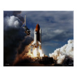 Launch of Space Shuttle STS-80 Poster