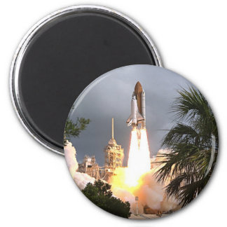 launch with palms 6 cm round magnet