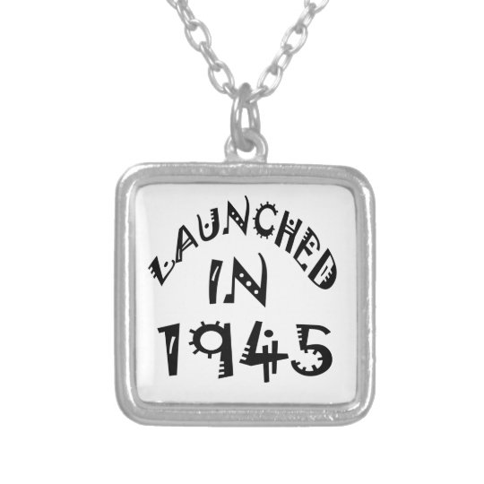 Launched In 1945 Silver Plated Necklace