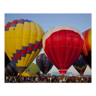 Launching hot air balloons 2 poster