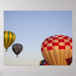 Launching hot air balloons 3 poster