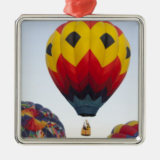 Launching hot air balloons christmas ornament
