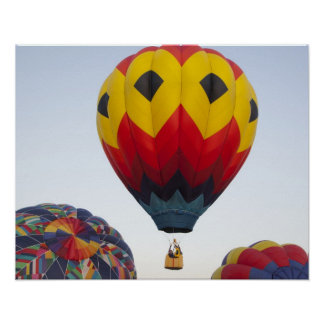Launching hot air balloons poster
