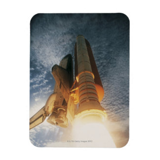 Launching Space Shuttle Rectangular Photo Magnet