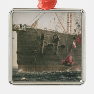 Launching the buoy, August 8th, 1865, marking the Silver-Colored Square Decoration