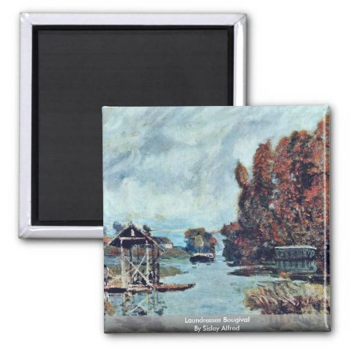 Laundresses Bougival By Sisley Alfred Magnets