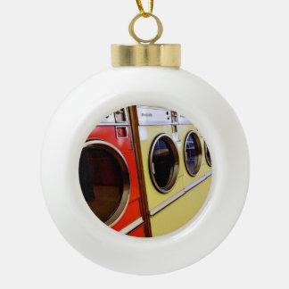 laundromat ceramic ball christmas ornament