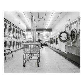Laundromat Photo Print