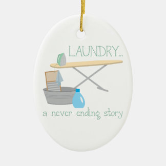 Laundry A Never Ending Story Ceramic Oval Decoration
