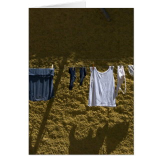 laundry along the camino note card