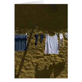 laundry along the camino note card