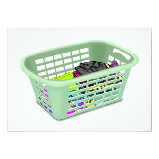 Laundry Basket Invitations
