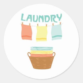 Laundry Classic Round Sticker