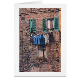 """Laundry Day in Italy"" photographic greeting card"