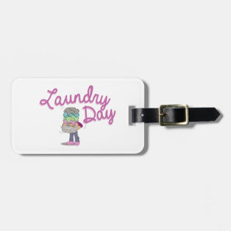 Laundry Day Luggage Tag
