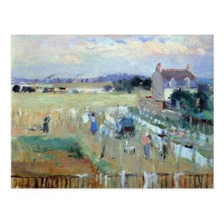 Laundry drying by Berthe Morisot Postcard