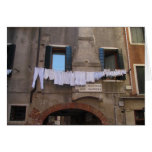 Laundry drying in Venice, Italy Greeting Cards