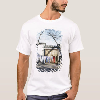 Laundry Drying on Clotheslines T-Shirt