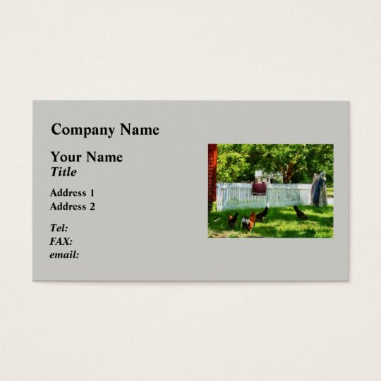 Laundry Hanging on Fence Business Card