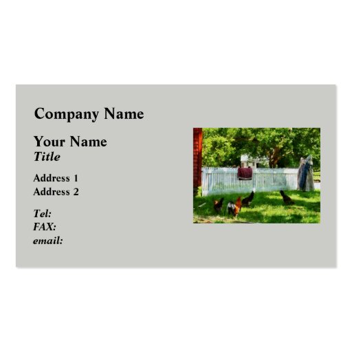 Laundry Hanging on Fence Pack Of Standard Business Cards