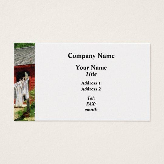 Laundry Hanging on Line - Platinum Business Card