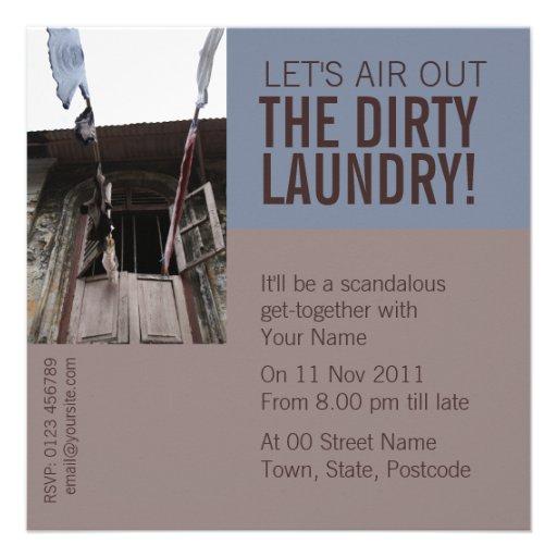 Laundry Invitation