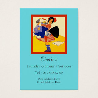 Laundry & Ironing Services Business Card