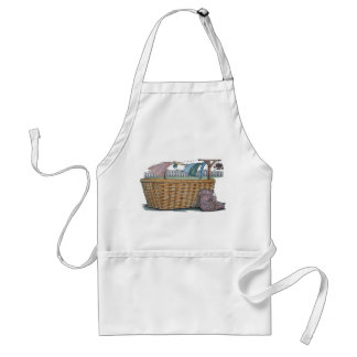 Laundry On Clothesline Adult Apron