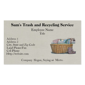 Laundry On Clothesline Pack Of Standard Business Cards