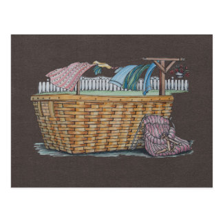 Laundry On Clothesline Postcard
