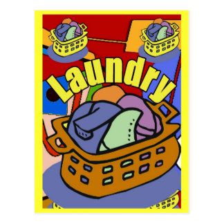 Laundry Room Basket Postcard