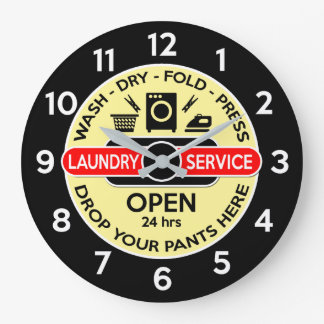 Laundry Room Clock / Utility Room Clock