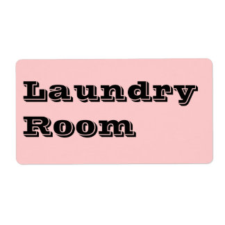 Laundry Room Moving Labels in Pink