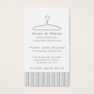 Hang tags package inserts zazzle laundry service grey swing hang tag business card reheart Gallery
