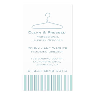 Laundry service mint swing hang tag business card