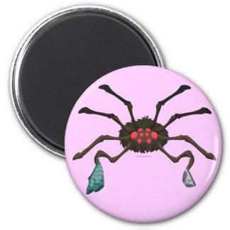 Laundry Spider 6 Cm Round Magnet