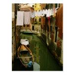 Laundry Venetian Canal Postcard