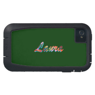 Laura Black Green iPhone 4 cover