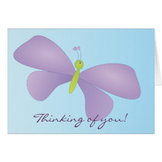 Laura Butterfly Note Card