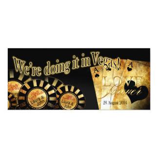 Laura & John Las Vegas Deluxe Wedding Card