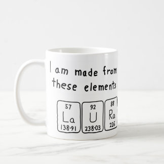 Laura periodic table name mug