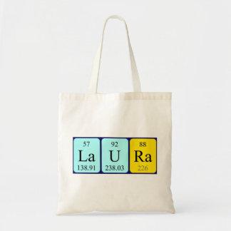 Laura periodic table name tote bag