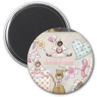 laura's cause 6 cm round magnet